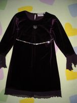 Sukienka. długi rękaw.z dzianiny.wizytowa. bawełniana.98-104cm j.nowe