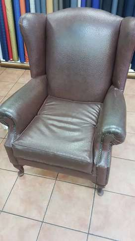 Large Wingback Chair Leatherette