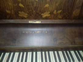 Sale, Vintage Burling & Mansfield upright Wooden Piano