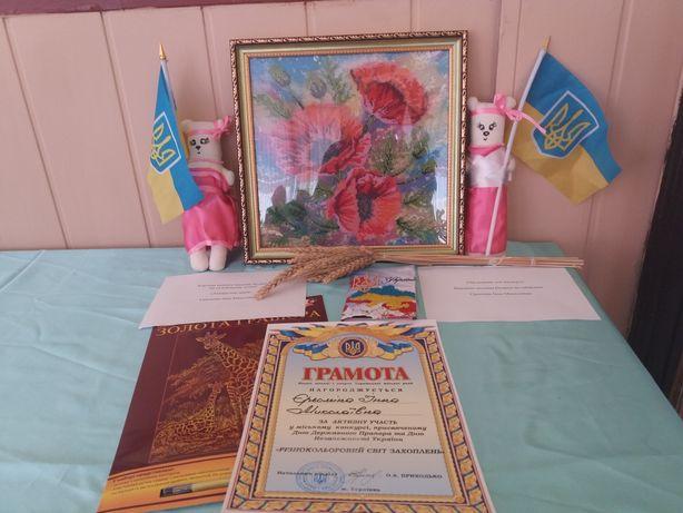 Картина вышитая чешским бисером Маки Терновка - изображение 3