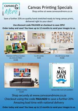 Custom Canvas Prints - SAVE 20% - Nationwide Delivery