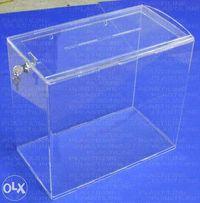 Прозорі урни, скрині для пожертв з оргскла 3 мм.