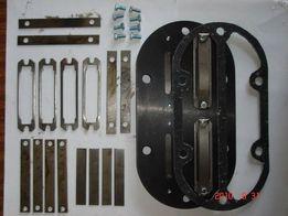 Запчасти на компрессор СО7б клапанная плита в сборе с прокладками.