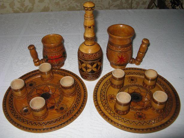 Сувенирный набор посуды из дерева