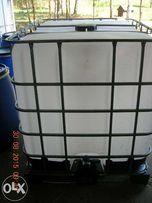 Zbiornik 1000l Mauzer 1000 Pojemnik czysty biały dowóz