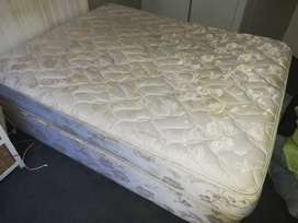 Queen bed and base