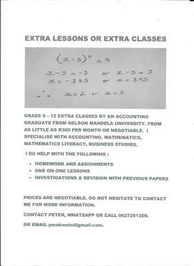 Extra Lessons and Classes