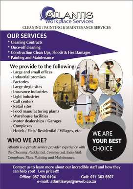 Cleaning, Renovations, Security Gates, Painting, Maintenance Services
