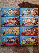 Шоколад Studentska (в ассортименте) (180 гр) (Чехия)