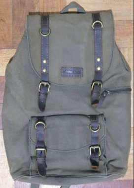 Arthur Jack Canvas and Leather Backpack