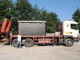 Zbiorniki betonowe szamba szambo 6m3 transport montaż Producent Lublin