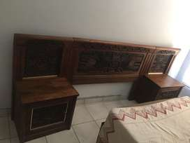 Head board and dressing table