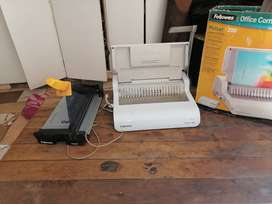 Binder machine and paper cutter for sale
