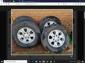 """Ford Ranger Mags and Tyres 16"""""""