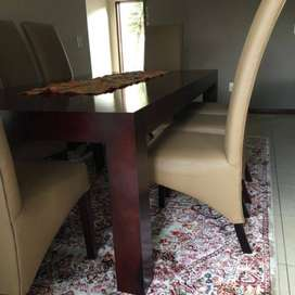 8 seater dining table with chairs for sale - still like new
