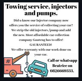 Towing service, injectors and pumps