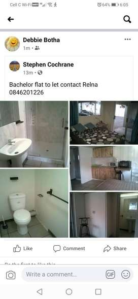 BACHELOR FLAT TO RENT.