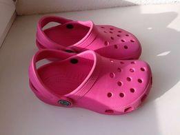 Кроксы детские розовые