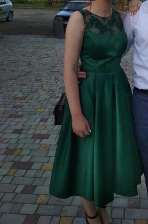 Изумрудное платье миди Мостиска - изображение 1
