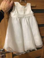 Sukienka do chrztu 68/6m