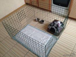 Вольер манеж для собаки, щенка, кот, кролика дешево с крышей и без