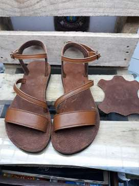 Size 7  brand new genuine leather sandals