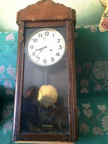 Старинные немецкие настенные часы с красивым боем