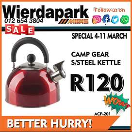Camp Gear Steel Kettle available for ONLY R120 at Wierdapark Midas!