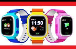 Smart Baby Watch Q90. Розовые часы в наличии