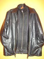 Klasyczna elegancka skórzana czarna KURTKA MĘSKA 58/ 60 2XL/3XL wz 188