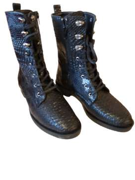 Faux Snake Skin Boots
