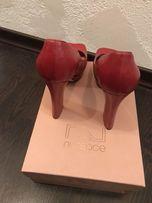 Красные итальянские кожаные туфли, размер 38,5-39