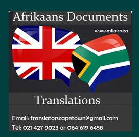 Afrikaans Documents Translation services Durban