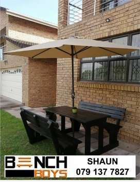 Patio and picnic benches
