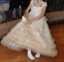 Нарядное бальное выпускное платье пышное для девочки 5-7 лет