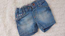 Krótkie spodenki jeansowe ZARA rozm.6-9m-cy, jak NOWE