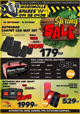 Spring Sale at Modimolle Spares!