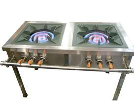 2 BURNER HEAVY DUTY GAS STOVE