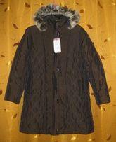 пальто женское р 64-66 утепленное зимнее – ОГ около 135см