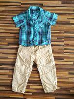 Spodnie + koszula dla chłopca zadbane.