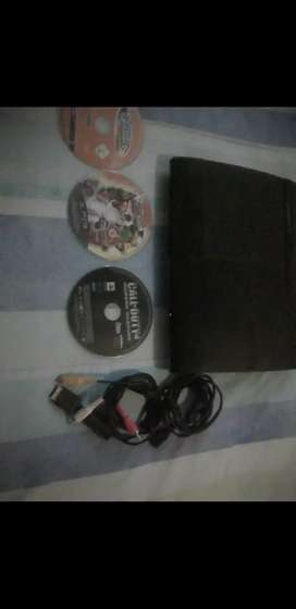 PlayStation 3 with three games