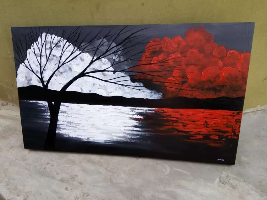 River side tree painting 0