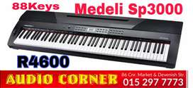 Medeli Keyboard 88keys sp3000 New