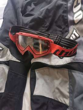 Motocross pants and glasses