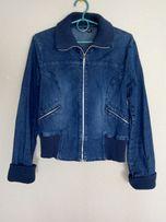 Фирменная куртка джинс бомбер