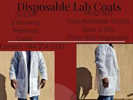 Disposable lab coats 50GSM