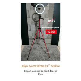 "55"" Ring Light with Tripod- Brand New"