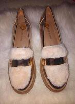 Балетки туфли с мехом стелька 22 см две разные пары по 700 грн