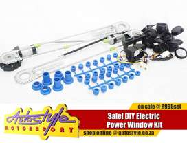 DIY Electric Window Kit, includes ALL fittings and plugs as well as co