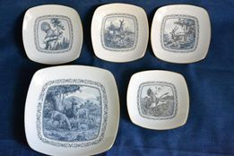 Zestaw 5 talerzyków, porcelana Wallendorf Turyngia Niemcy